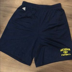 Adidas Michigan authentic football shorts